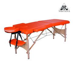 Массажный стол DFC NIRVANA, Optima, дерев. ножки, цвет оранжевый (Orange),    НОВИНКА
