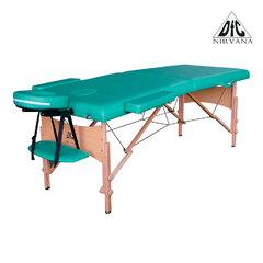 Массажный стол DFC NIRVANA, Relax, дерев. ножки, цвет зеленый (Green),    НОВИНКА