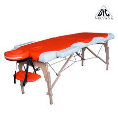 Массажный стол DFC NIRVANA, Relax, дерев. ножки, цвет оранж.крем.,    НОВИНКА